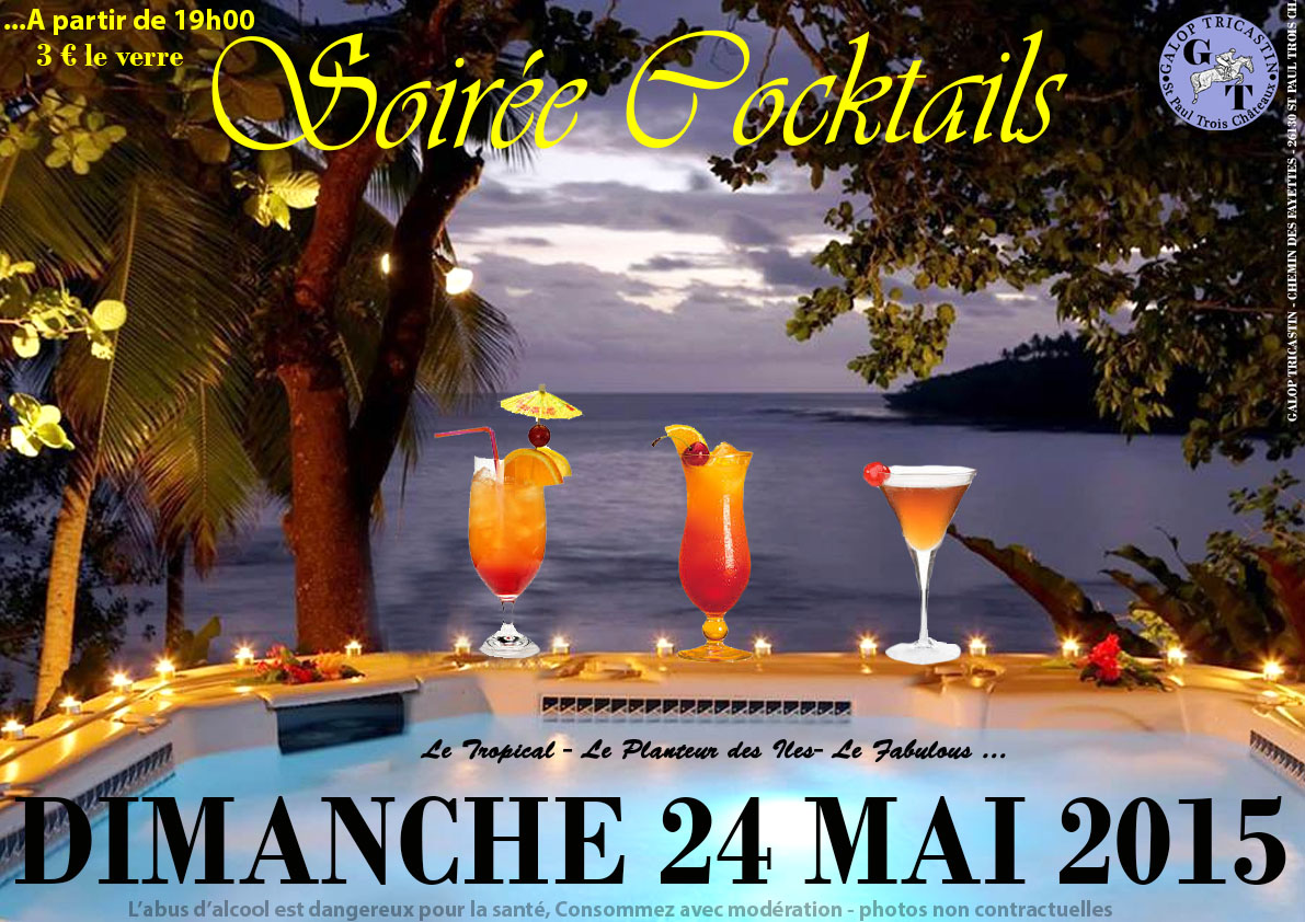 Soiree cocktail galop tricastin 24 mai 2015